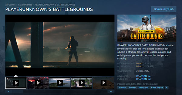 Players can easily download PUBG for PC through Steam