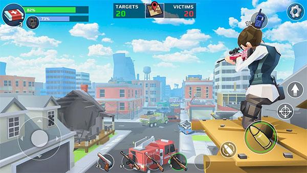 A dynamic battle royale game